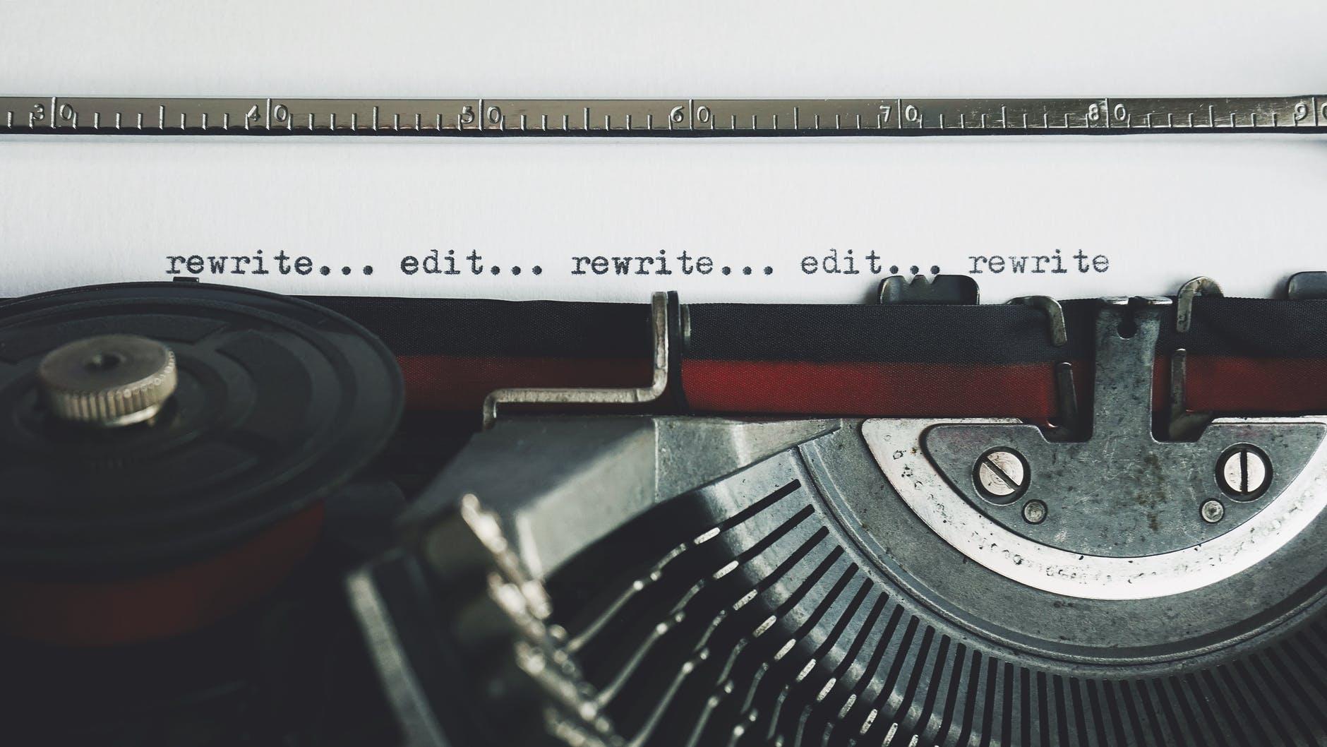 rewriting editing revision